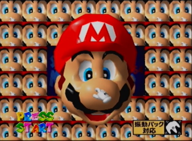 Super Mario 64 Shindou Edition face mini-game