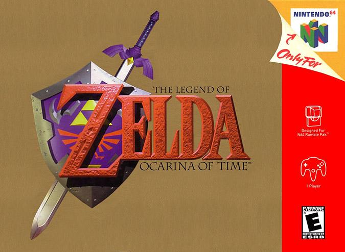 The Legend of Zelda: Ocarina of Time NTSC box art