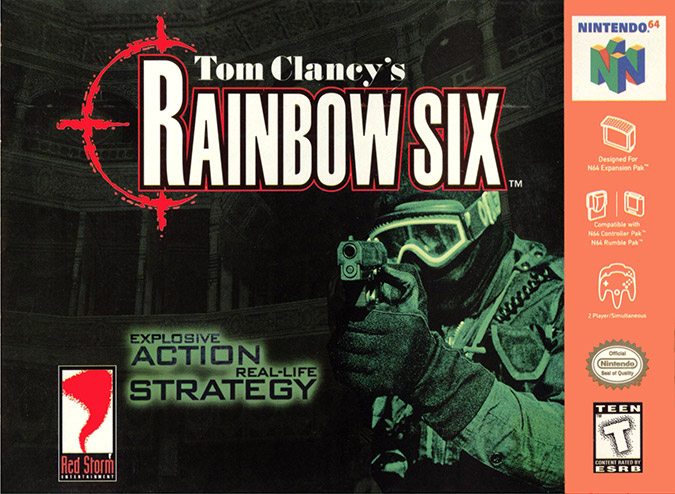 Tom Clancy's Rainbow Six N64 box art - NTSC version