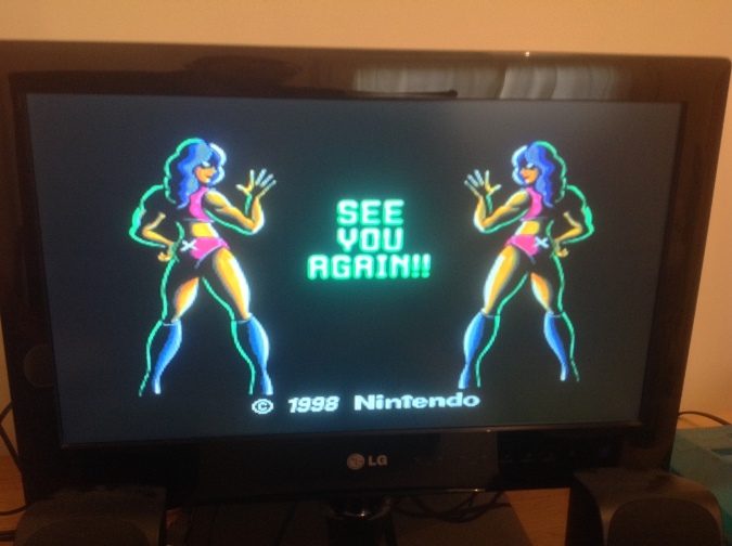 F-Zero X running on an N64 connected to an LG HDTV
