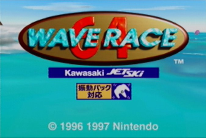 Wave Race 64 Shindou Edition title screen
