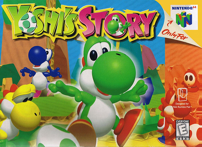 Yoshi's Story N64 box art (NTSC)