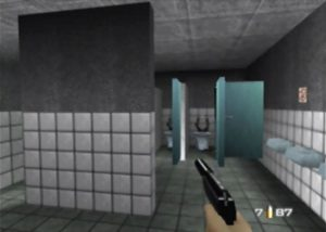Facility's toilets in GoldenEye 007 for N64