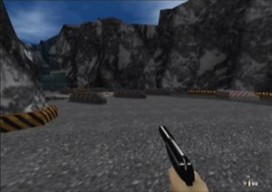 GoldenEye 007's Byelomorye Dam stage for N64 - hi-res patch enabled