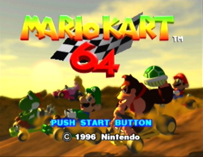Mario Kart 64 alternate title screen