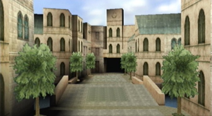 Theed, the capital city of the planet Naboo, as depicted in Star Wars Episode 1: Battle for Naboo for N64