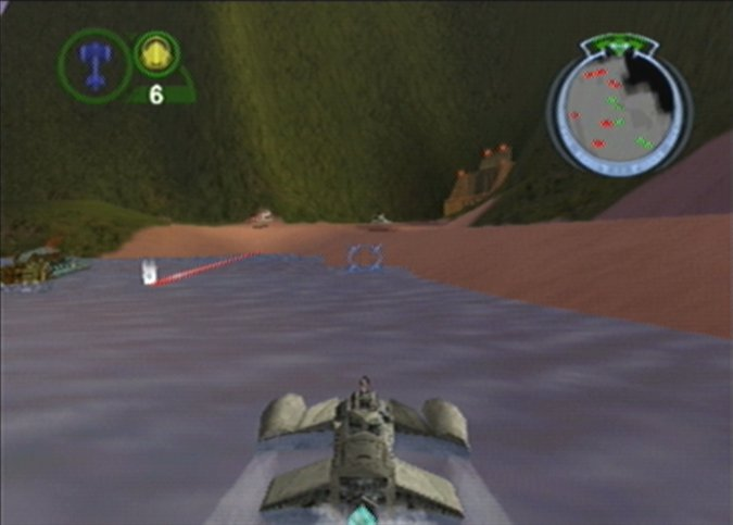 The Trade Federation Gunboat in Star Wars Episode 1: Battle for Naboo for N64