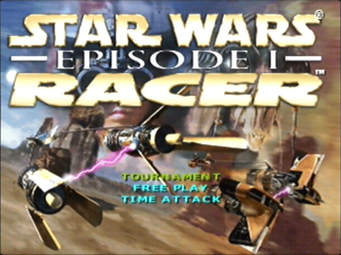 Star Wars Episode 1: Racer title screen (N64)