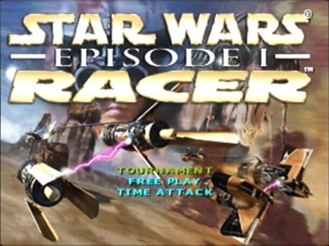 Star Wars Episode 1: Racer title screen (N64)