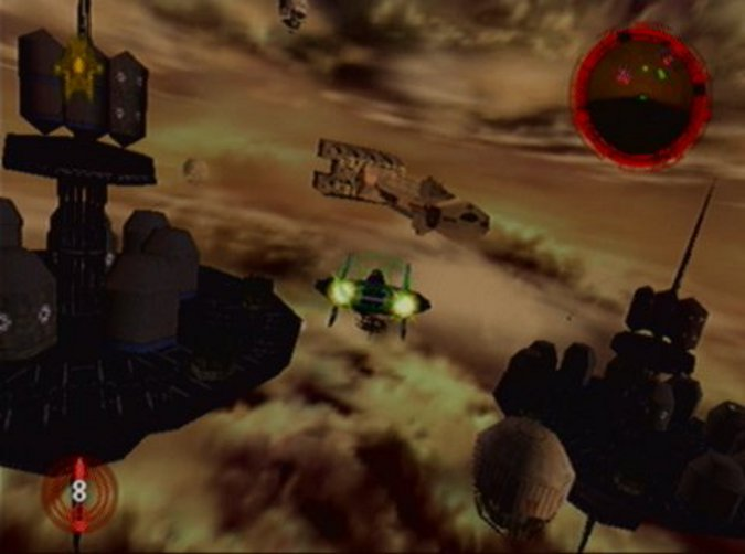 Battle above Taloraan mission in Star Wars: Rogue Squadron for N64
