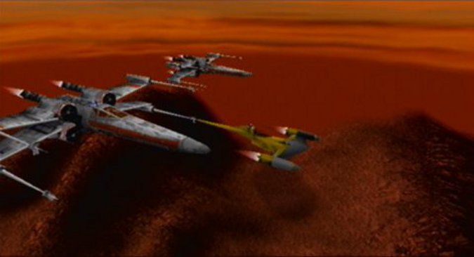 Star Wars: Rogue Squadron Naboo Starfighter hidden unlockable (N64)
