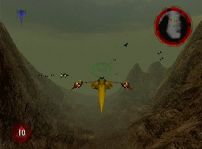 Rogue Squadron Naboo starfighter in the Search for the Nonnah mission