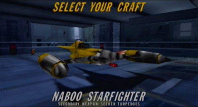 Star Wars: Rogue Squadron Naboo starfighter