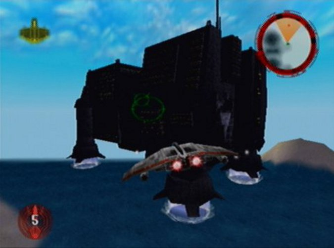 A World Devastator in Star Wars: Rogue Squadron for the N64