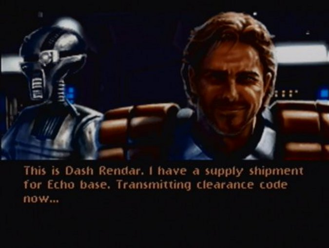 Dash Rendar and Leebo in Star Wars: Shadows of the Empire (N64 version)