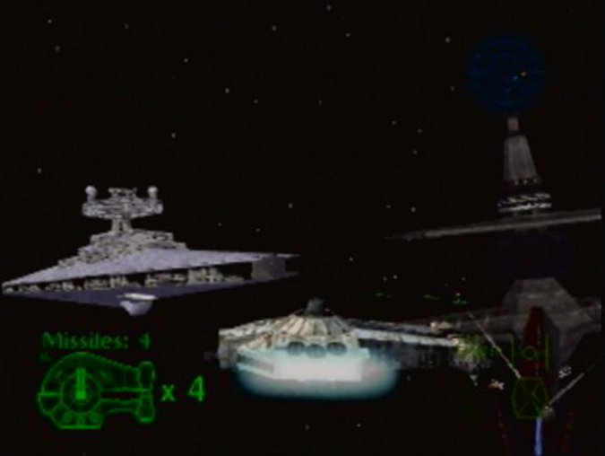 The Skyhook battle stage in Star Wars: Shadows of the Empire for Nintendo 64