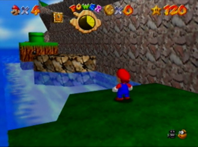 Super Mario 64, a game shown to increase the hippocampal grey matter in the brains of older adults