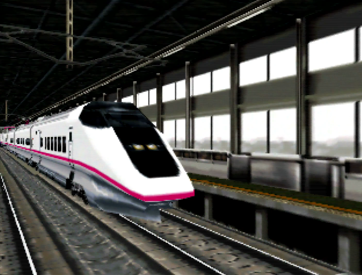 The E3 Komachi Series train, as seen in Densha de Go! 64