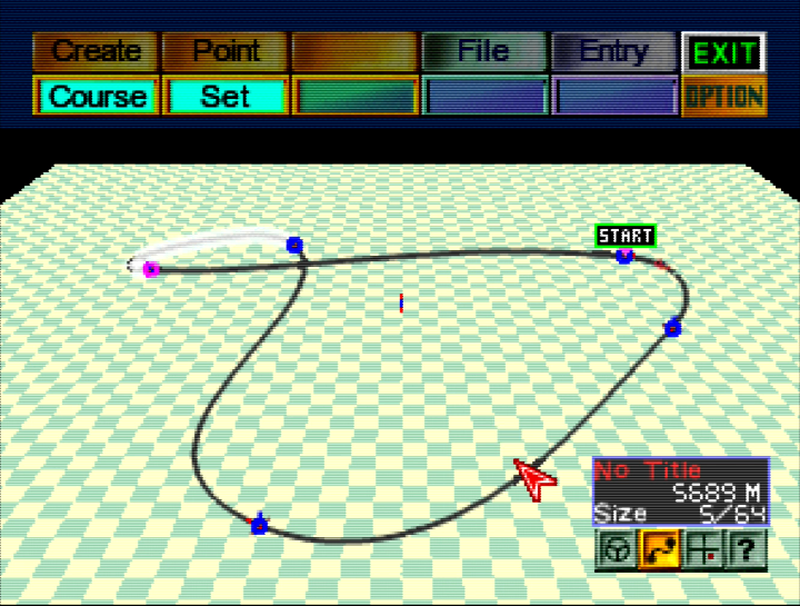 F-Zero X Expansion Kit track editor (64DD)
