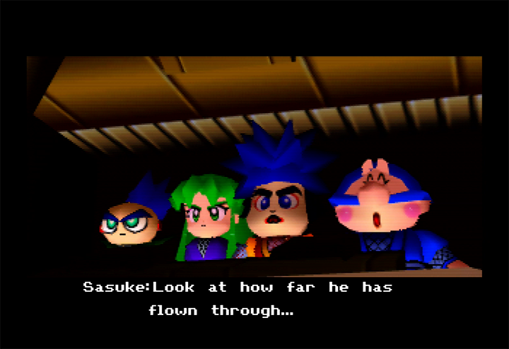 Cutscene from Mystical Ninja Starring Goemon for N64.