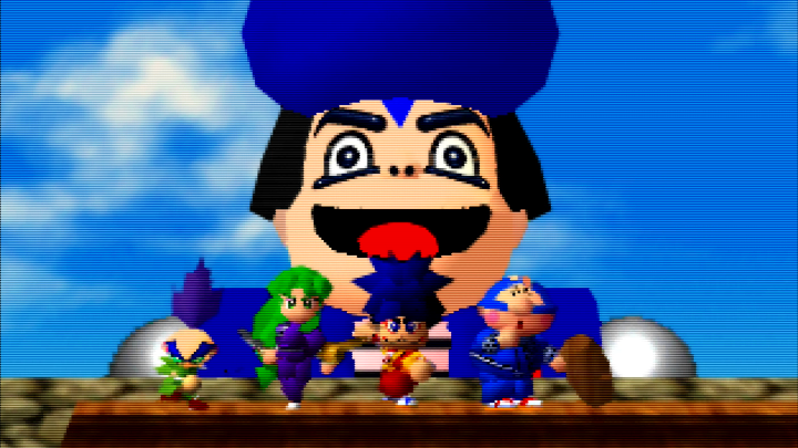 Best N64 Games - Goemon and the team
