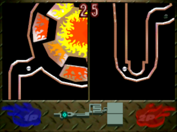 Ucchannanchan no Honō no Challenger: Denryū Iraira Bō two-player versus mode