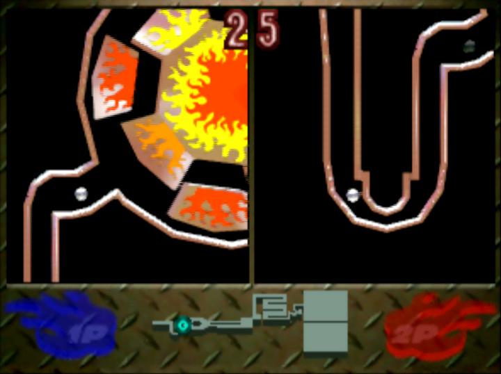 Ucchannanchan no Honō no Challenger: Denryū Iraira Bō two-player versus mode