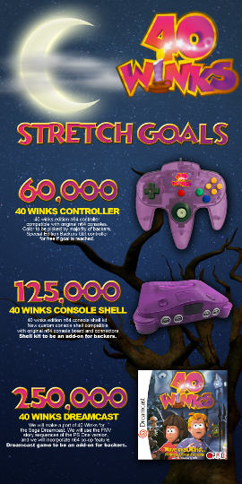 40 Winks Kickstarter stretch goals