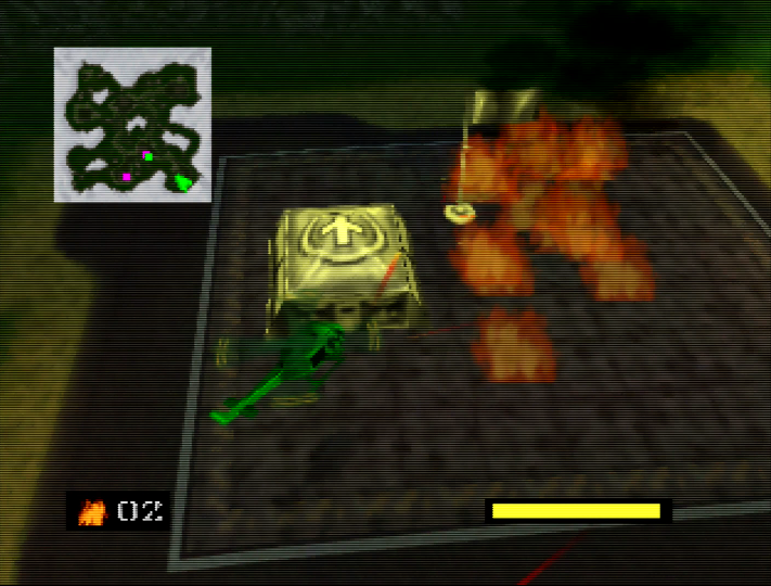 Using napalm on a Tan base in Army Men: Air Combat for N64