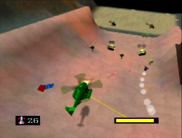 Dodging incoming missiles in Army Men: Air Combat (N64)