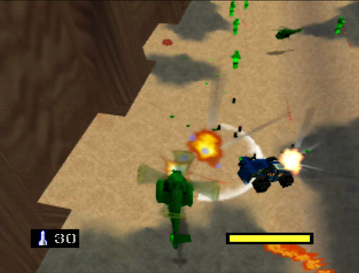 Killer RC cars in Army Men: Air Combat for Nintendo 64