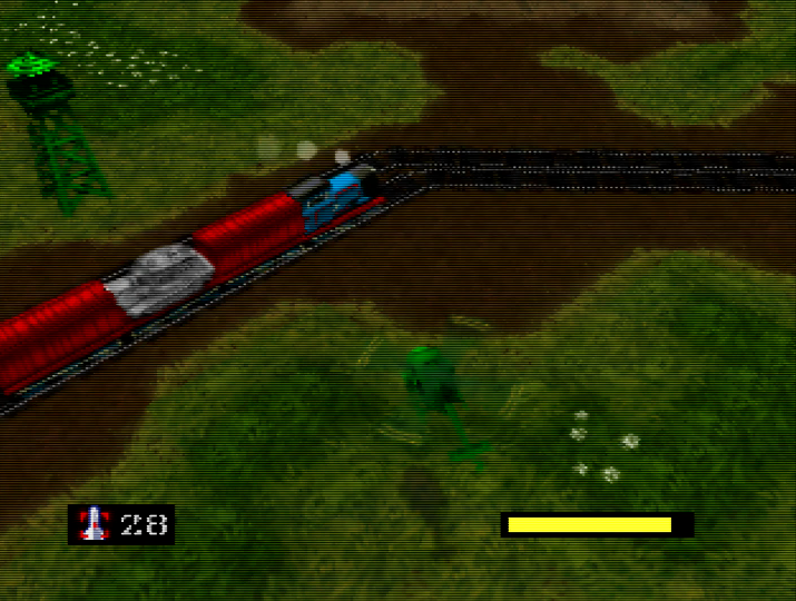 A special guest appearance from Thomas the Tank Engine in Army Men: Air Combat for N64