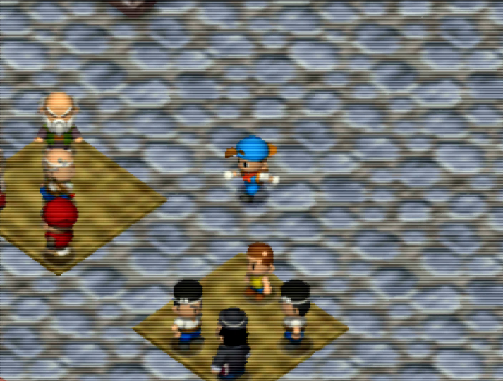 Taking a trip to town in Harvest Moon 64 on Nintendo 64