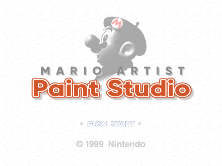 Mario Artist 64DD english translations showing Mario Artist Paint Studio in English