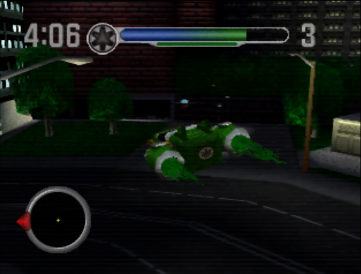 Flying the AeroRescue-03 Zord in Power Rangers Lightspeed Rescue for N64