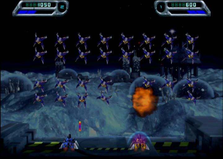 Space Invaders - one of many N64 coop games.