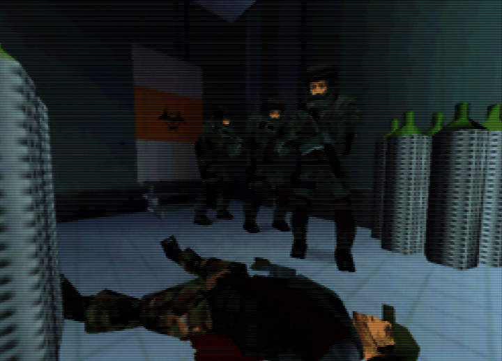 Mission success screen for Rainbow Six N64's Fire Walk level