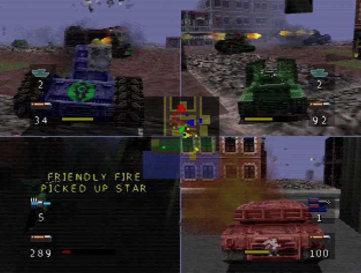 BattleTanx: Global Assault - one of the best N64 multiplayer games