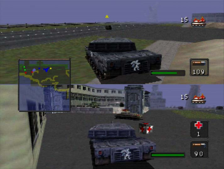 BattleTanx: Global Assault two-player campaign - one of 3DO's N64 coop games.