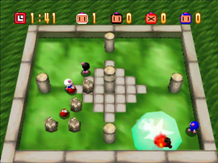 One of the best N64 multiplayer games, Bomberman 64