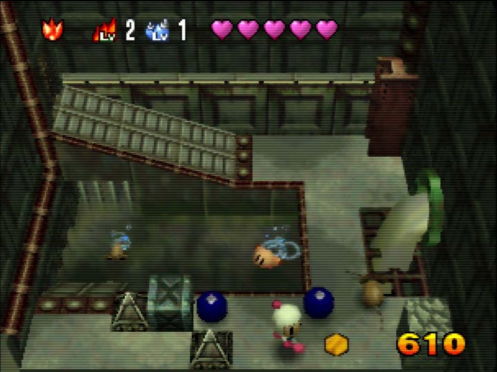 Pommy co-op assist mode in Bomberman 64: The Second Attack for Nintendo 64