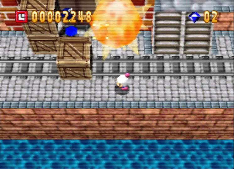 Bomberman 64 on an UltraHDMI N64 in retro mode