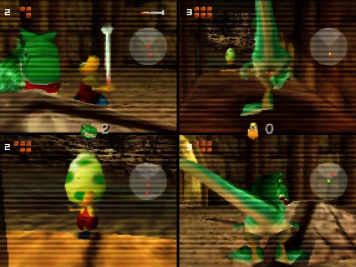 Conker's Bad Fur Day Raptor multiplayer mode (N64)