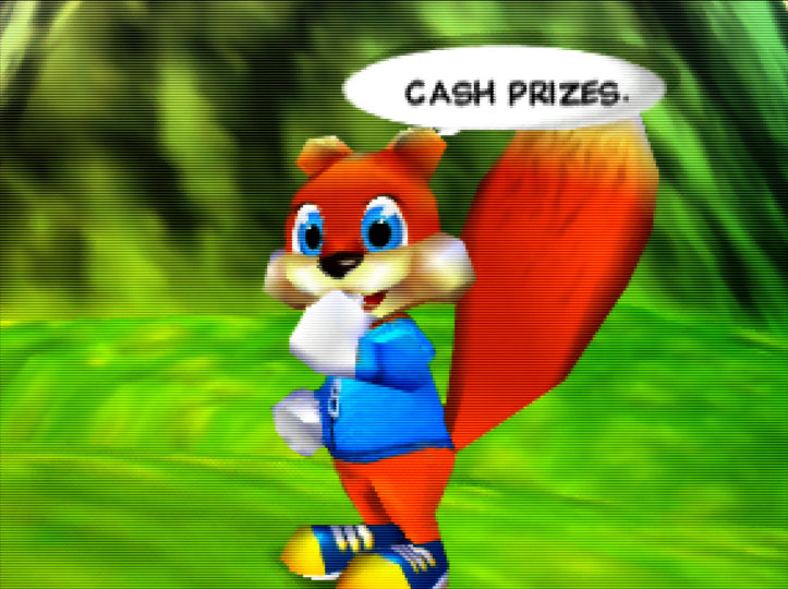 Conker's Bad Fur Day running on an UltraHDMI N64