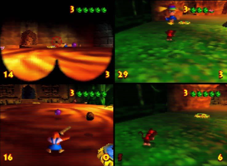 Donkey Kong 64 Monkey Smash multiplayer mode