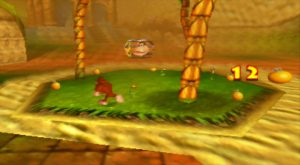 Donkey Kong 64 in widescreen running on an UltraHDMI with stretch fill mode activated