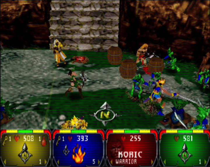 Four-player Gauntlet Legends - one of the best N64 coop games ever.