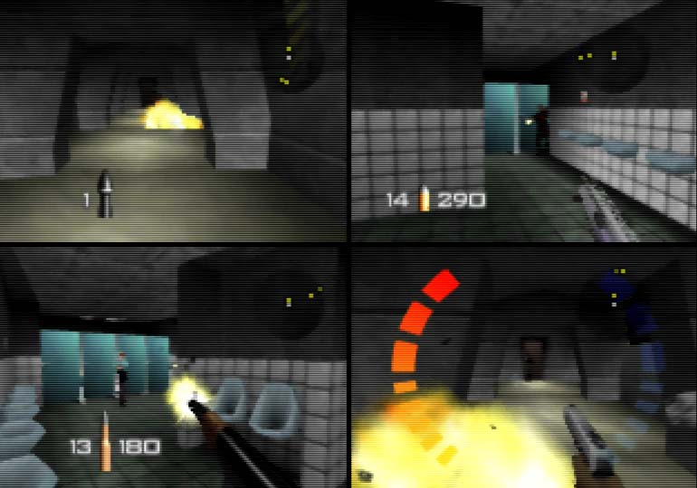 GoldenEye 007 Facility deathmatch - one of the best N64 multiplayer games