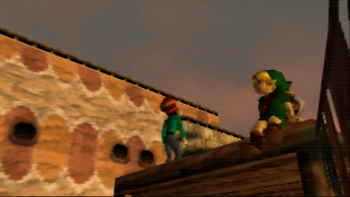 The Legend of Zelda: Majora's Mask opening on an UltraHDMI N64