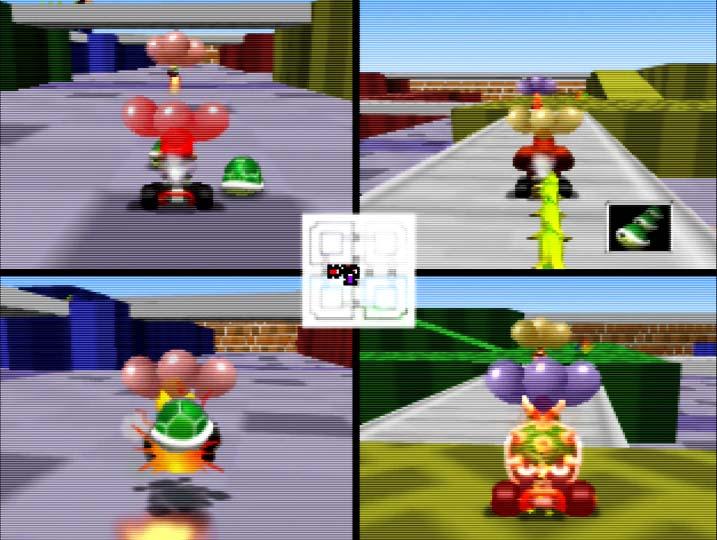 Mario Kart 64 Block Fort battle mode